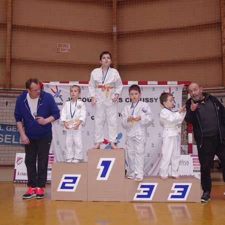 photos des podiums Tournoi Courcelles 17/02/2018